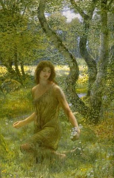 The Grass of Parnassus - Edward Robert Hughes