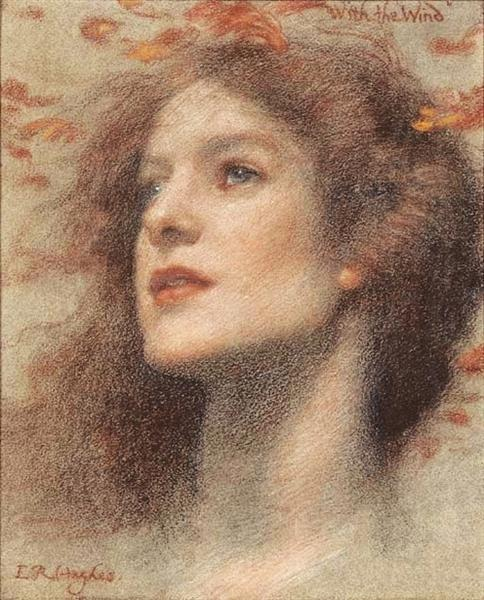 With the Wind - Edward Robert Hughes