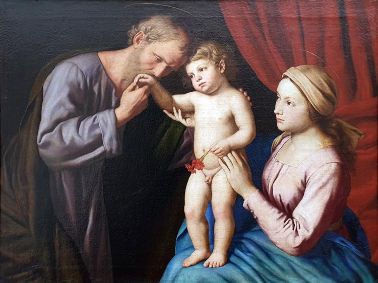 The Holy Family, 1675 - Giovanni Battista Salvi da Sassoferrato