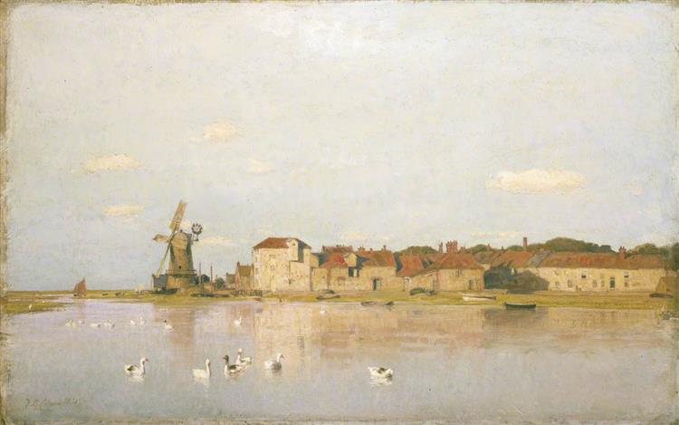 A Flood Tide at Cley next the Sea, Norfolk, 1885 - Frederick George Cotman