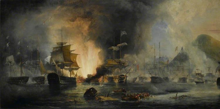 The Battle of Navarino, 20 October 1827, 1827 - George Philip Reinagle