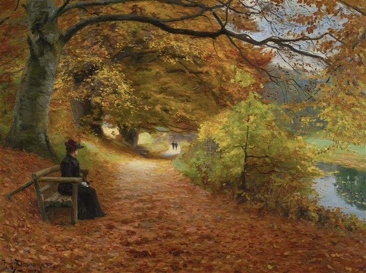 Wooded Path in Autumn, 1902 - Hans Andersen Brendekilde