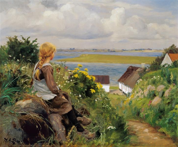 In Thought, 1906 - Hans Andersen Brendekilde