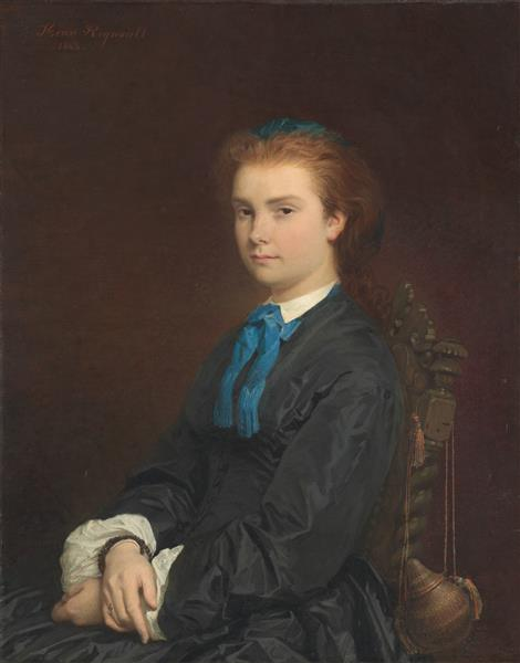 Portrait of a Young Woman, 1863 - Анри Реньо