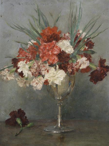 Carnations - a Study - Henry Scott Tuke