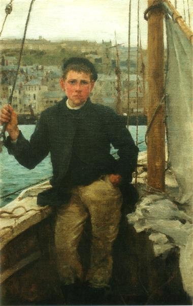 Portrait of Jack Rolling - Henry Scott Tuke