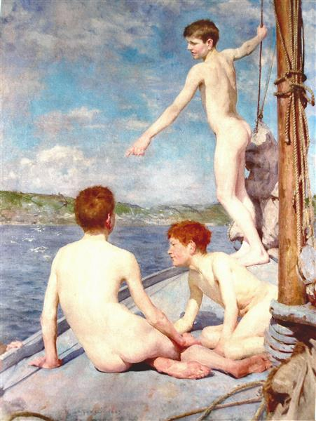 The Bathers - Henry Scott Tuke