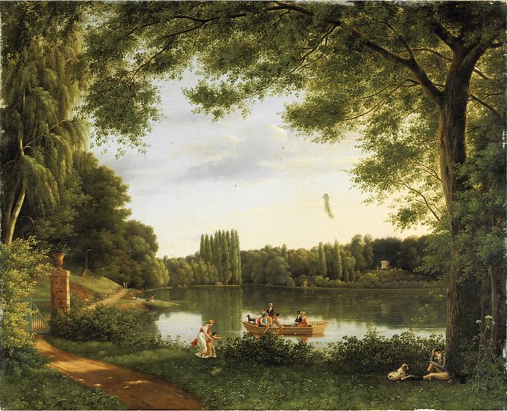 View of the Lake of Ermenonville - Jean-Joseph-Xavier Bidauld