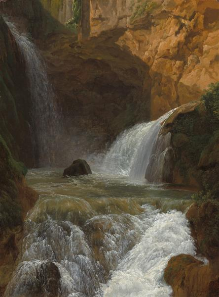 View of the Waterfalls at Tivoli - Jean-Joseph-Xavier Bidauld