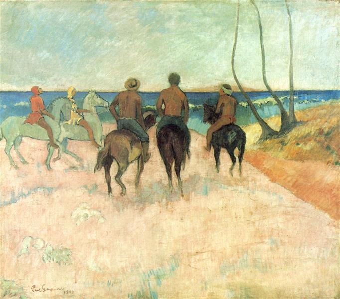 Riders on the Beach I, 1902 - Paul Gauguin