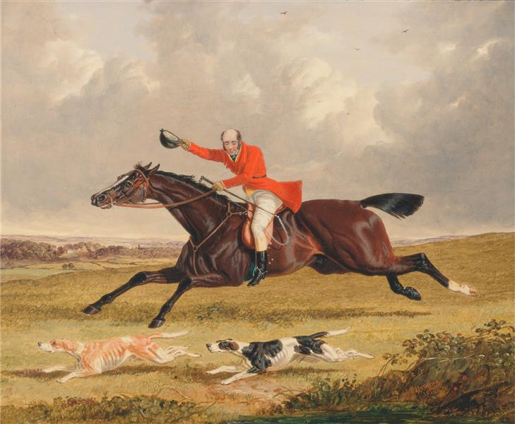 Foxhunting- Encouraging Hounds, 1839 - John Frederick Herring Sr.