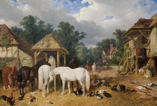 The Farmyard - John Frederick Herring Sr.