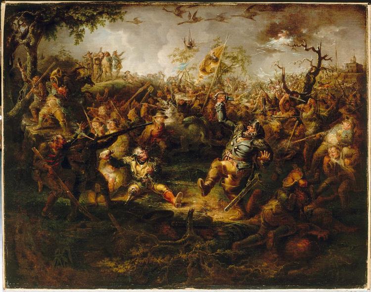 A Battle Scene from Knickerbocker's History of New York, 1838 - John Quidor