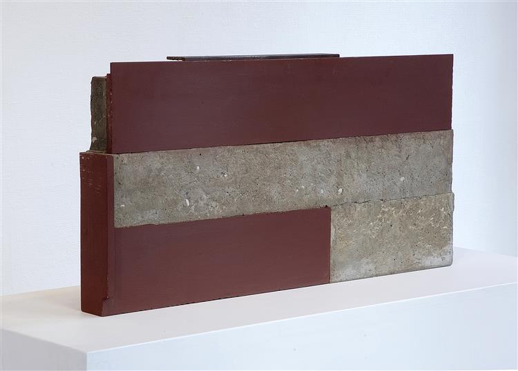 'Against' - abstract sculpture by Carlos Granger - concrete & steel, 2005 - 2006 - Carlos Granger