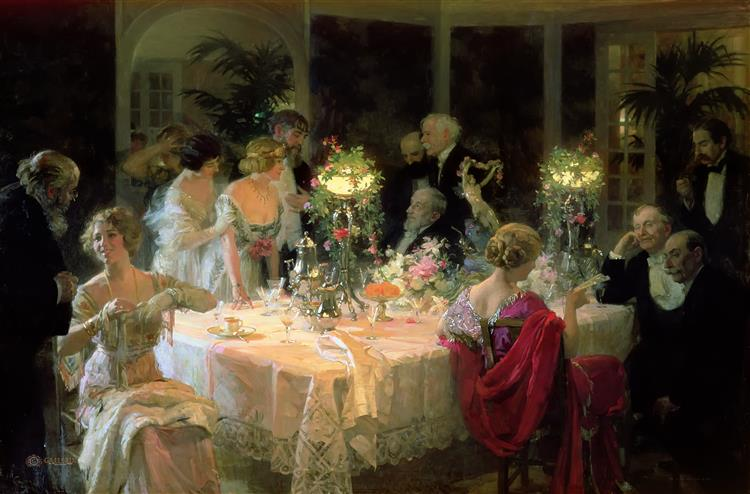 The End of Dinner, 1913 - Jules-Alexandre Grun