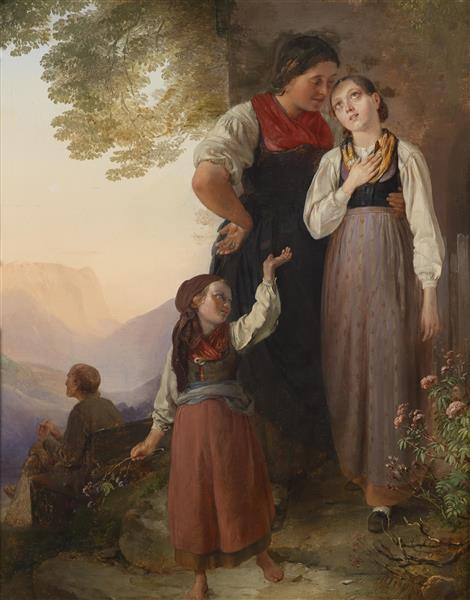 Der Abschied, 1867 - Ludwig Knaus