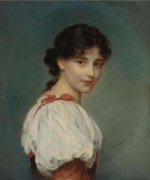 Italian Girl, 1894 - Ludwig Knaus