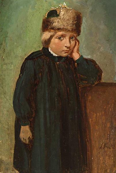 Knabe in Hessischer Tracht Aus Der Schwalmgegend Bei Ziegenhain, 1852 - Ludwig Knaus