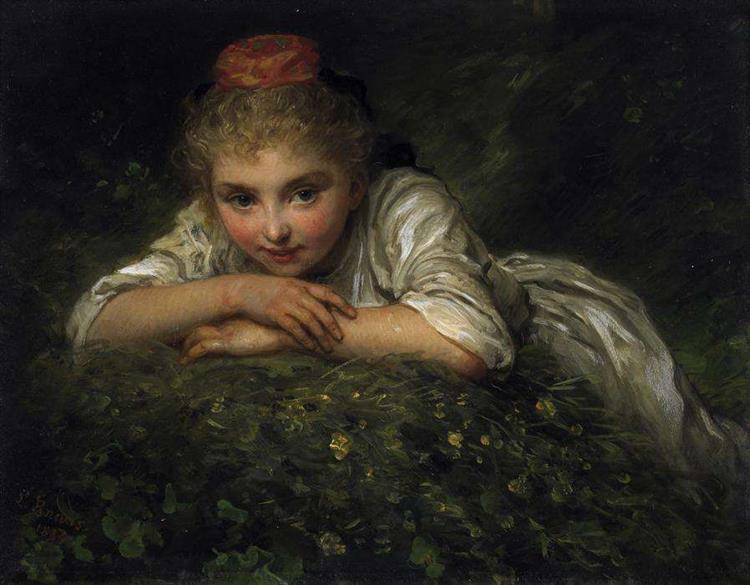 Porträt Eines Kleinen Mädchens, 1884 - Людвиг Кнаус