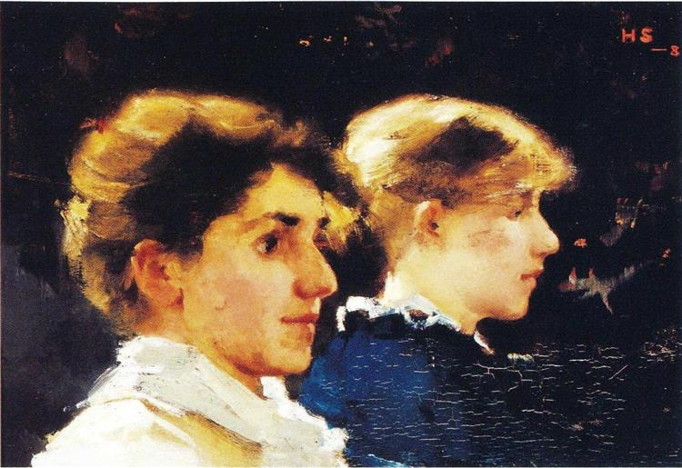 Two Profiles - Marianne Stokes