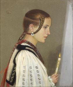 A Rumanian Bridesmaid - Marianne Stokes
