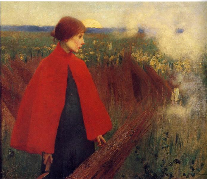 The Passing Train, 1890 - Marianne Stokes