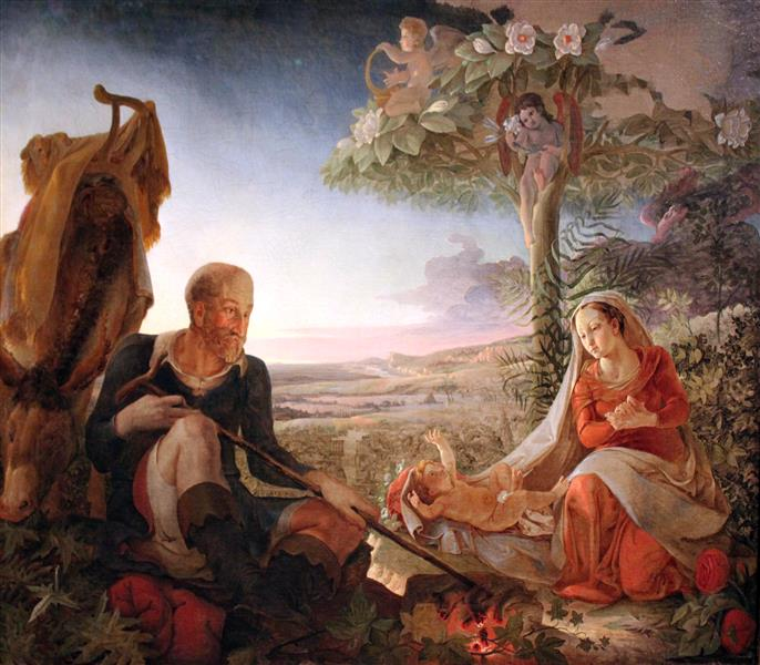 Rest on the Flight into Egypt, 1805 - Філіпп Отто Рунге