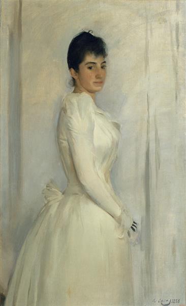Portrait of Montserrat Carbó - Ramon Casas