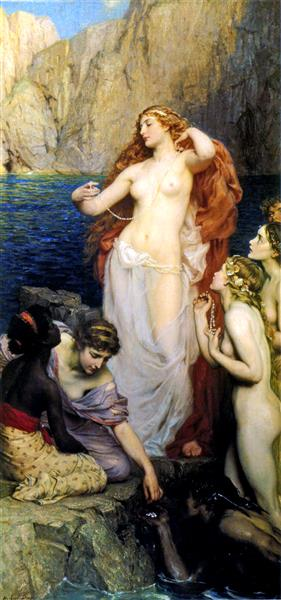 The Pearls of Aphrodite,, 1907 - Herbert James Draper