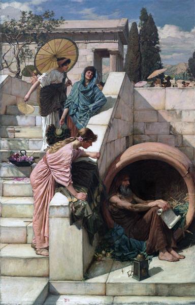 Diogenes, 1882 - John William Waterhouse