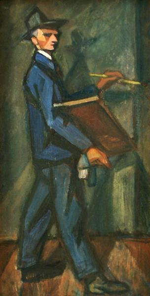 Self Portrait, c.1950 - c.1960 - Kmetty János