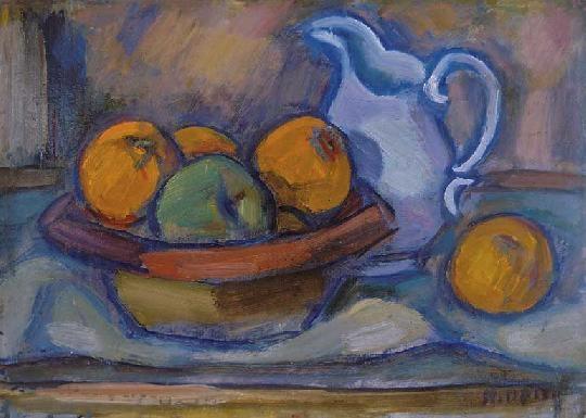 Still Life with Apples and Jug, c.1930 - Kmetty János