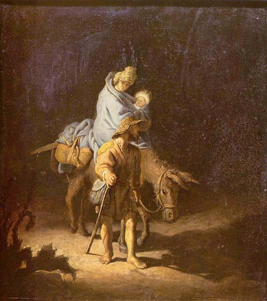 The Flight into Egypt, 1627 - Rembrandt
