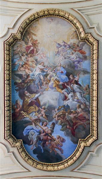 Glory of Santa Cecilia in Santa Cecilia (Rome), c.1727 - Себастьяно Конка