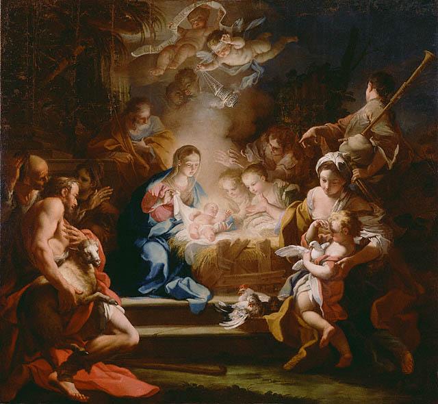 The Adoration of the Shepherds, 1720 - Sebastiano Conca