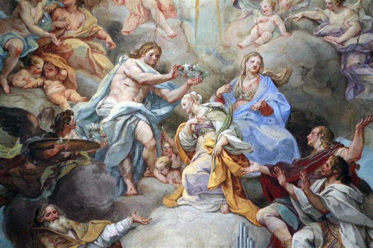 Glory of Santa Cecilia in Santa Cecilia (Rome), c.1727 - Sebastiano Conca