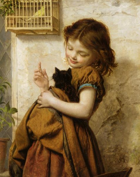 Her Favorite Pets - Sophie Gengembre Anderson