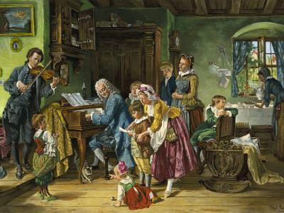Johann Sebastian Bach im Kreise Seiner Familie, 1870 - Toby Edward Rosenthal