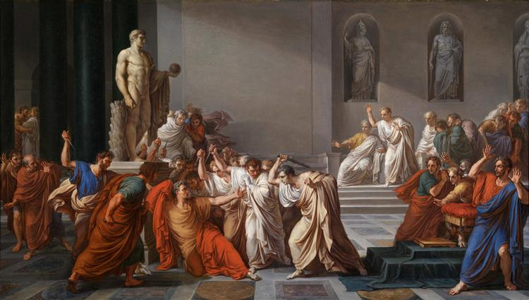 Death of Caesar, 1805 - Vincenzo Camuccini