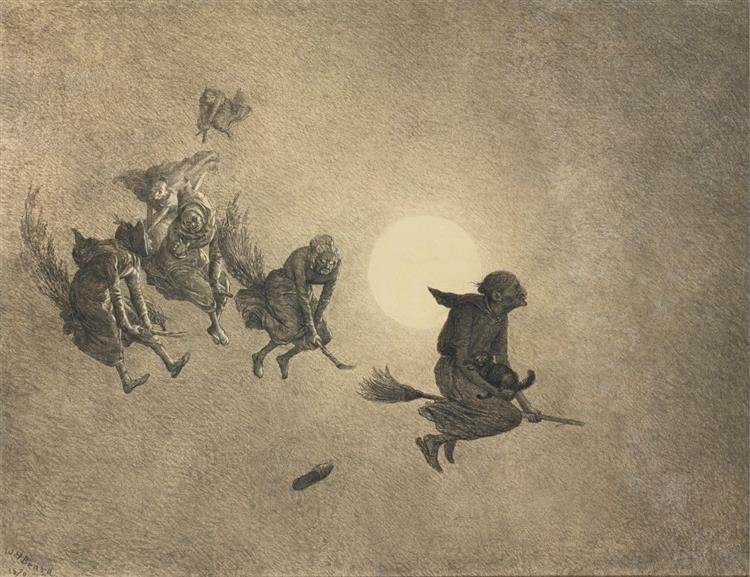 The Witches' Ride by William Holbrook Beard, 1870 - William Holbrook Beard