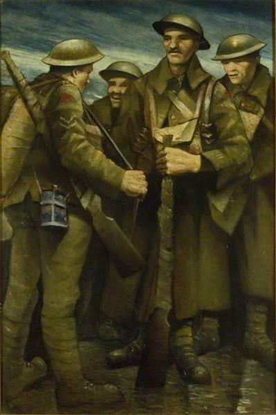 A Group of Soldiers, 1917 - C. R. W. Nevinson