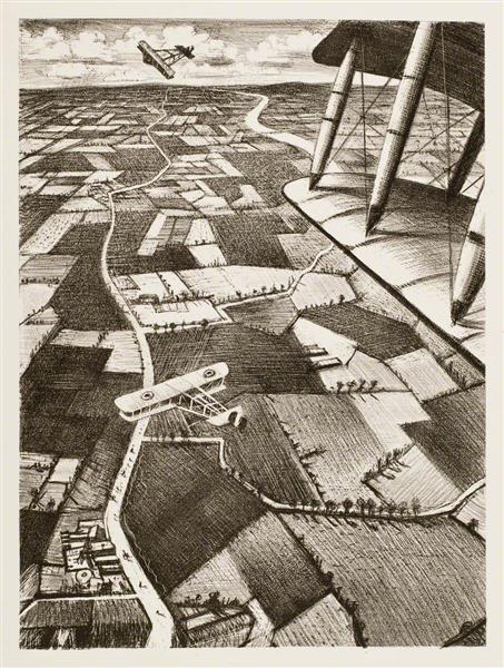 In the Air, 1917 - C. R. W. Nevinson