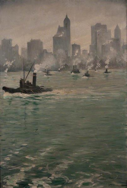 View of Lower Manhattan, 1920 - C. R. W. Nevinson