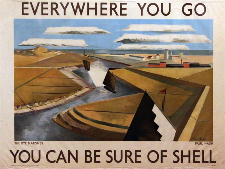 Advertising Poster for Shell, 1932 - Paul Nash