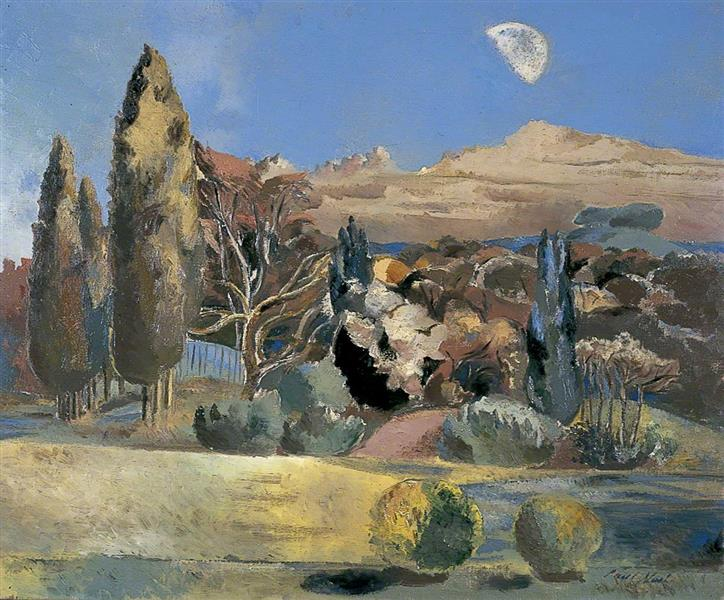 Landscape of the Moon's First Quarter, 1943 - Paul Nash