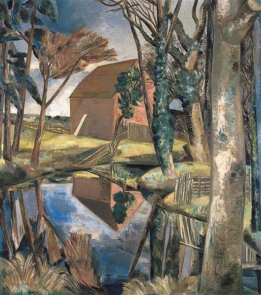 Oxenbridge Pond, 1928 - Paul Nash