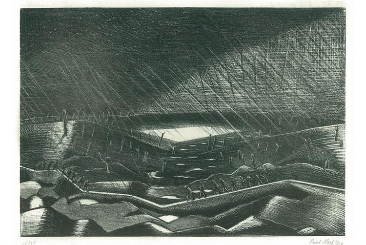 Rain, Lake Zillebeke, 1918 - Paul Nash