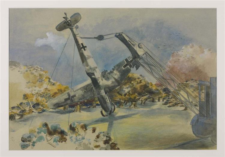 The Messerschmitt in Windsor Great Park, 1940 - Paul Nash