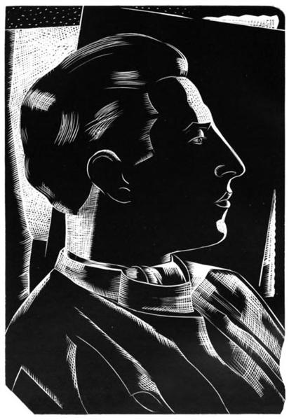 Woodcut Self Portrait, 1923 - Paul Nash