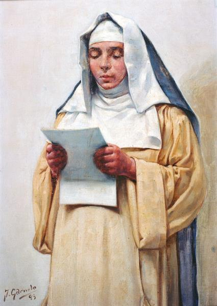 Monja Leyendo, 1893 - José Santiago Garnelo y Alda